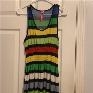 Colorful stripped dress